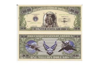 U.S. Air Force $Million Dollar$ Novelty Bill Collectible