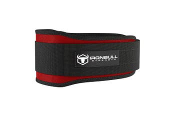 (Large, Burgundy) - Iron Bull Strength Weight Lifting Belt for Cross Training - 13cm Auto-Lock Weightlifting Back Support, Workout Back Support for Lifting, Fitness and Powerlifitng - Men and Women