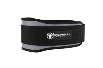 (XX-Large, Grey) - Iron Bull Strength Weight Lifting Belt for Cross Training - 13cm Auto-Lock Weightlifting Back Support, Workout Back Support for Lifting, Fitness and Powerlifitng - Men and Women