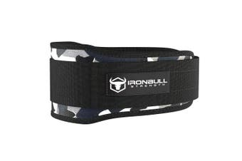 (X-Large, Camo White) - Iron Bull Strength Weight Lifting Belt for Cross Training - 13cm Auto-Lock Weightlifting Back Support, Workout Back Support for Lifting, Fitness and Powerlifitng - Men and Women