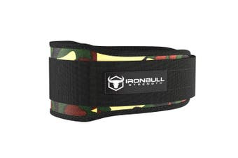 (XX-Large, Camo Green) - Iron Bull Strength Weight Lifting Belt for Cross Training - 13cm Auto-Lock Weightlifting Back Support, Workout Back Support for Lifting, Fitness and Powerlifitng - Men and Women