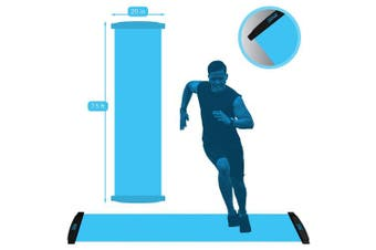 (2.3m, Blue) - American Lifetime Slide Board - Workout Board for Fitness Training and Therapy with Shoe Booties and Carrying Bag Included - Black/White/Blue, 6/2.3m