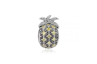 (Pineapple) - CKK Sterling Silver Pineapple Charms fit Pandora Bracelet Charms Beads, Fruit Charms