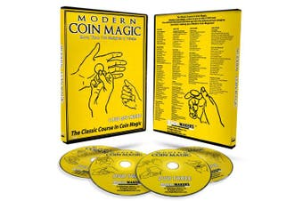 (1, classic) - Magic Makers Ultimate Modern Coin Magic - Over 170 Sleights and Tricks on a 4 DVD Set with a Performance Pad