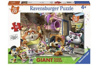 Ravensburger 03005 44 Cats Puzzle, Giant, 60 Pieces