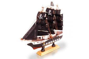 (Pirate 20cm) - Brynnberg Wooden Pirate Ships Model Boat (Pirate 20cm)