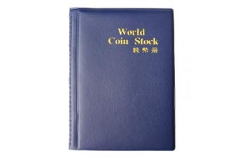 (Blue) - kuou Coin Collectors Album, Coin Collecting Album Collection Holder Book Penny Pockets Storage 120 Coin Holders