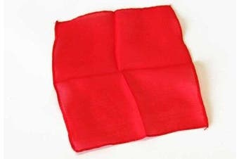 (18 Inch, Red) - Magic Makers 18 Inch Red Color Silk - Professional Grade