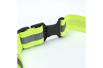 (Yellow) - A-SAFETY Glow Belt - Running Belt - Reflective Belt - PT Belt - Military Reflective Belt(Yellow,Orange,Black,White)