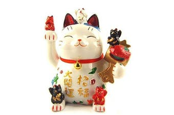 Feng Shui Maneki Neko Lucky Cat Coin Bank for Wealth