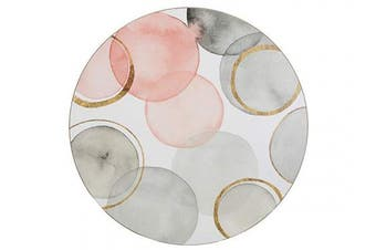 Creative Tops Cork-Backed Placemats / Table Mats with Printed 'Gilded Spheres' Design, White, 29 cm, Set of 4