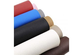 """(By The Yard, Dark Brown) - Desirable Life Vinyl Faux Leather Fabric Cotton Back for Hand Crafts DIY Tooling Sewing Hobby Workshop Crafting Wallet Making Square 0.7mm Thick 54"""" Wide by The Yard (Dark Brown)"""