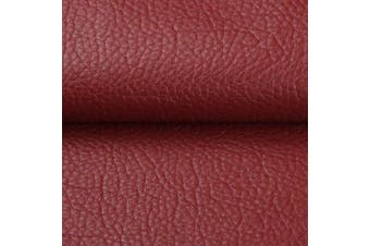 """(By The Yard, Red) - Desirable Life Vinyl Faux Leather Fabric Cotton Back for Hand Crafts DIY Tooling Sewing Hobby Workshop Crafting Wallet Making Square 0.7mm Thick 54"""" Wide by The Yard (Red)"""
