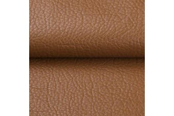 """(By The Yard, Brown) - Desirable Life Vinyl Faux Leather Fabric Cotton Back for Hand Crafts DIY Tooling Sewing Hobby Workshop Crafting Wallet Making Square 0.7mm Thick 54"""" Wide by The Yard (Brown)"""