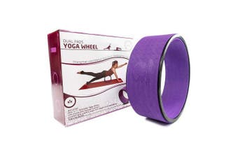 (Large, Purple) - Stretching Yoga Wheel - Supports Warm Ups, Poses, Backbends - Extra Wide Dharma Wheel Prop With Double Sided Padding For Maximum Comfort and Support - Use At Home, Gym or Studio - From Clever Yoga