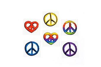 Peace Sign Tattoos (6 dz)