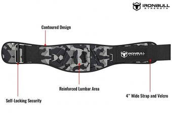 (XX-Large, Camo White) - Iron Bull Strength Weightlifting Belt for Men and Women - 15cm Auto-Lock Weight Lifting Back Support, Workout Back Support for Lifting, Fitness, Cross Training and Powerlifitng