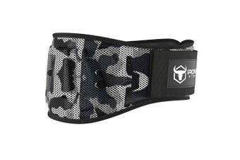 (X-Large, Camo White) - Iron Bull Strength Weightlifting Belt for Men and Women - 15cm Auto-Lock Weight Lifting Back Support, Workout Back Support for Lifting, Fitness, Cross Training and Powerlifitng