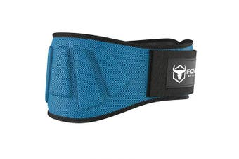 (X-Large, Blue) - Iron Bull Strength Weightlifting Belt for Men and Women - 15cm Auto-Lock Weight Lifting Back Support, Workout Back Support for Lifting, Fitness, Cross Training and Powerlifitng