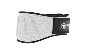 (Medium, White) - Iron Bull Strength Weightlifting Belt for Men and Women - 15cm Auto-Lock Weight Lifting Back Support, Workout Back Support for Lifting, Fitness, Cross Training and Powerlifitng