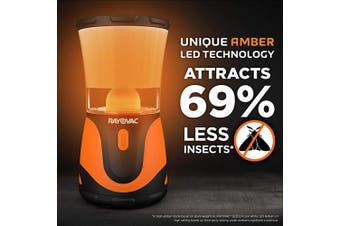 Rayovac SPBUGLN3D-BA Insect-Resistant Outdoor Lantern with with Amber LED Technology, Perfect for Camping