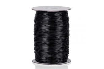 Anezus Necklace Cord Necklace String for Jewellery Making Black Waxed Cotton Thread Beading Cord for Bracelet Necklace Jewellery Making Beading Crafting Supplies (1 MM, 175 Yards)