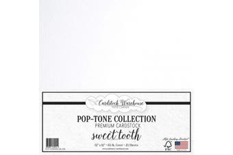 (Sweet Tooth) - Sweet Tooth White Cardstock Paper - 30cm x 30cm 29kg. Premium Cover - 25 Sheets from Cardstock Warehouse