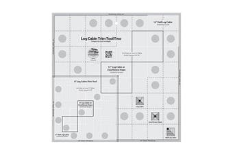 Creative Grids Log Cabin Trim Tool Two for 15cm and 30cm Finished Blocks Quilting Ruler Template CGRJAW2