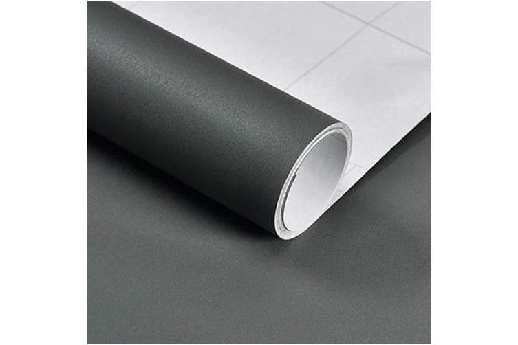Dark Grey Hode Self Adhesive Wallpaper Dark Grey Removable Peel And Stick Self Adhesive Vinyl Film Stick Paper Easy To Apply Stickers For Wall Shelf Liner Table Door Living Room 3m Long