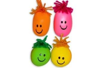 Neon Smile Face Stress Balls (2 dz)