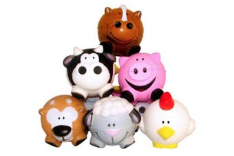 (1, classic) - 12 Farm Animal-Shaped Relaxable Balls
