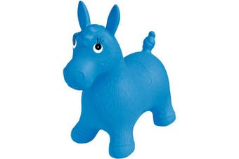 (Blue Pony) - Ball Bounce & Sport Pony Inflatable Animal Hopper - Blue