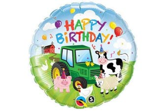 Qualatex 'Happy Birthday' (46cm ) Foil Balloon (Farmyard - Tractor)