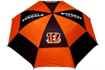(Cincinnati Bengals) - Team Golf NFL 160cm Golf Umbrella with Protective Sheath, Double Canopy Wind Protection Design, Auto Open Button
