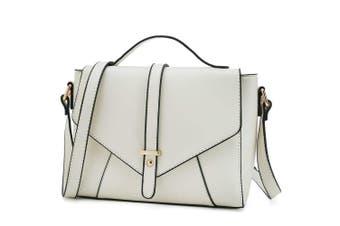 (Beige) - Medium Sized Crossbody Purse for Women Designer Shoulder Bags Ladies Handbags
