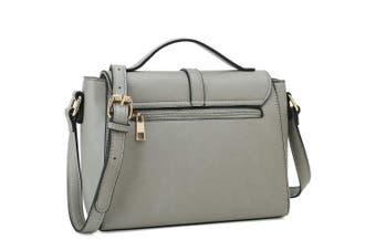 (Light Grey) - Medium Sized Crossbody Purse for Women Designer Shoulder Bags Ladies Handbags