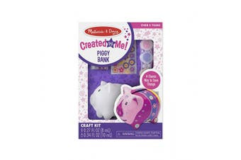 (Piggy) - Melissa & Doug Created by Me! Piggy Bank Decorate-Your-Own Craft Kit