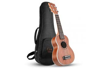 (Soprano, Sapele) - Hricane Ukulele Soprano 50cm Professional Ukeleles For Beginners Sapele Hawaiian Ukele UKS-1 Bundle with Gig Bag