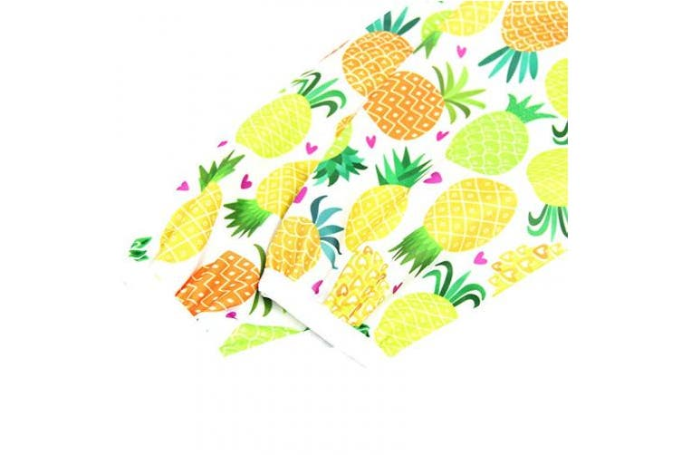 (Pineapple) - Wegreeco Baby Long Sleeve Bib, Toddler Children's Waterproof Baby bib with Sleeves (Pineapple),Washable/Lightweight/Stain and Odour Resistant (6-24 Months) Baby bib Shirt with Pocket