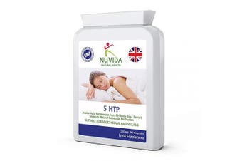 5-htp 200mg / 90 x 5htp Double Strength Capsules/Natural Amino Acid/Maximum Nutritional Retention Capsules/Vegan & Vegetarian Friendly / 100% Quality Assurance