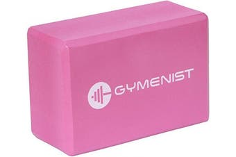 "(7.6cm  x 15cm x 9"" (Single), Red) - GYMENIST Yoga Blocks, High Density EVA Foam Block, Provides Support and Deepen Poses, Improves Strength,Balance and Flexibility, Ideal for Workout, Fitness & Gym"