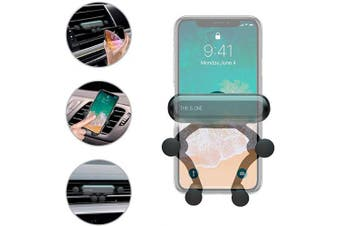 (Black) - Car Phone Mount,Orycool Gravity Car Air Vent Holder,Universal Cell Phone Car Holder Auto-Retractable Adjustable Grips 360 Degree Rotation Fits iPhone Samsung and All Smartphones from 14cm - 17cm