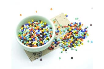 (3mm, multicolored) - Catotrem Glass Seeds Beads Small Pony Beads Multi Colours Loose Beads for Jewellery Making(3mm/50Gr/1450Pcs) Multi-Coloured