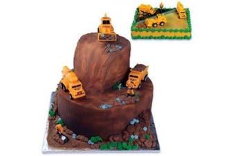 (Orange/Black) - Construction Scene Cake Topper Kit