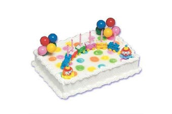 (1, Multicolored) - Circus Train Cake Decorating Kit