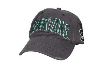 (Michigan State Spartans (Thrashed)) - Captivating Headgear NCAA Adult Baseball Cap Adjustable Hat