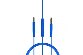 (Blue) - Replacement Audio Cable Cord Line Inline Mic/Remote Compatible with Bose Quiet Comfort 25 35/OE2/OE2i/QC25/QC35/Soundlink/SoundTrue Headphones Compatible with Apple Devices iPhone. (Blue)