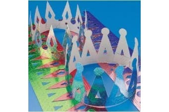 (Assorted Colors) - Assorted Colour Prism Crowns (1 dz)