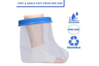 Adult Foot & Ankle Waterproof Plaster Cast & Dressing Cover | Protector | Also for Bandages & Plasters | Protection During Shower & Bath | Latex Free | Reusable