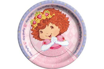Strawberry Shortcake Princess 23cm Dinner Plates (8) Party Supplies